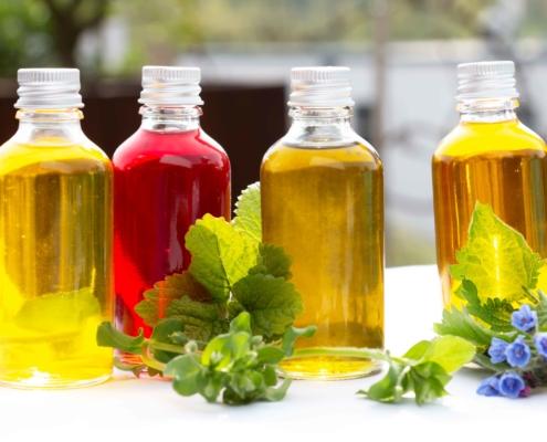 Öle der Essbaren Hautpflege